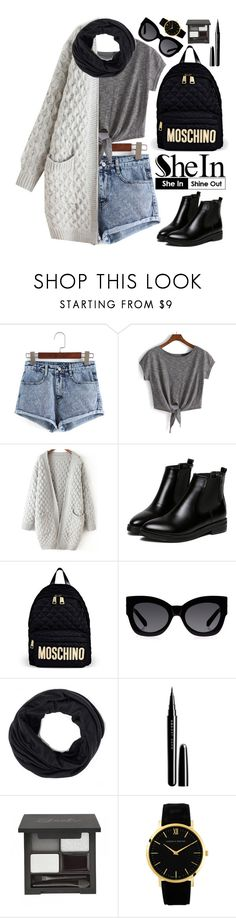 """Shein"" by oshint ❤ liked on Polyvore featuring WithChic, Moschino, Karen Walker, Marc Jacobs, Larsson & Jennings, women's clothing, women's fashion, women, female and woman"