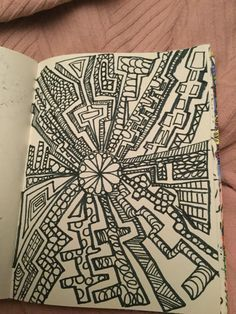 Zen doodles journal , drawn by Shirley