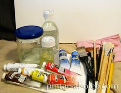 Lo que debes saber sobre los aceites para pintar al óleo Water Bottle, Diy, Painting, Arte Popular, Painting Tricks, Rooster Painting, Art Studio Organization, Bricolage, Water Flask