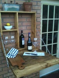 Wine station for our outdoor kitchen