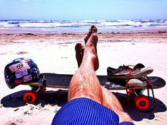 Longboarding to the beach to surf - BLISS