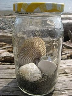 Have young ones create a nature jar by picking up objects along a hike