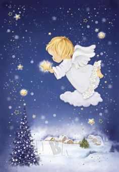 Image Library Designs Original illustrations occasions Christmas greetings cards                                                                                                                                                      More Christmas Clipart, Vintage Christmas Cards, Christmas Greeting Cards, Christmas Greetings, Vintage Cards, A Christmas Story, Christmas Angels, Christmas Art, Illustration Noel