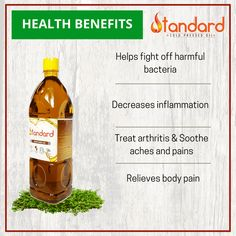 Amazing Benefits: Helps fight off harmful bacteria Decreases inflammation Relieves body pain Mustard Oil For Hair, Ayurvedic Doctor, Cold Pressed Oil, Information Processing, Oil Pulling, Fish Curry, Neem Oil, Hot Sauce Bottles, Arthritis