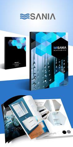 Sania - Création du logo, catalogue salle de bain Catalogue, Brochures, Flyers, Desktop Screenshot, Creations, Posters, Logo, Master Bathroom Vanity, Projects