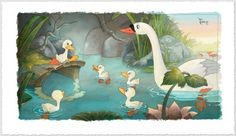 """""""The Ugly Duckling"""" by Toby Bluth for Disney Fine Art"""