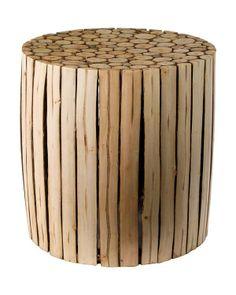 Taburetes tronco de madera