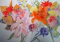 Flowers, watercolour, 2014. Bockingford A4 300gsm