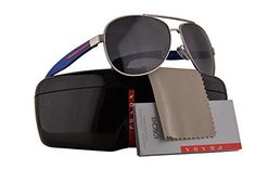 bd6d2d1f8d Prada PS53PS Benbow Sunglasses Silver w Polarized Grey Gradient Lens QFP5W1  SPS53P PS 53PS SPS 53P