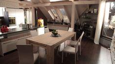 Nové podkrovie - kuchyňa a jedáleň