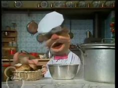 The Muppet Show's Swedish Chef dancing in the kitchen to wish you a happy birthday! Happy Birthday Chef, Animated Birthday Cards, Chef Quotes, Swedish Chef, Dancing In The Kitchen, Sesame Street Muppets, The Muppet Show, Hot Dogs, Emoticon