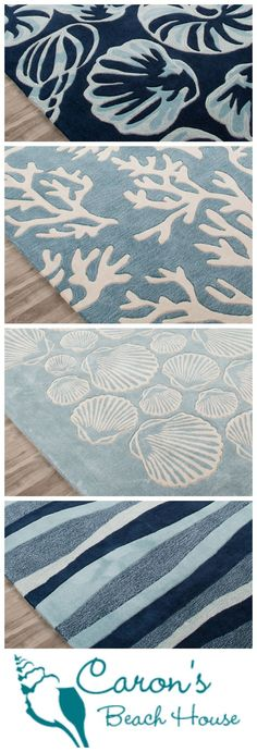 Have the winter blues? Need a seaside escape? Create your own coastal retreat without ever leaving home! Try a new blue coastal area rug -