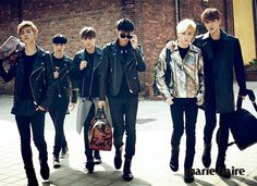 EXO - Marie Claire Magazine October Issue '14  - Luhan, Lay, Kai, Tao, Suho, Sehun