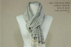Man's Scarf  loon , Organic, Cotton,  Handmade scarves