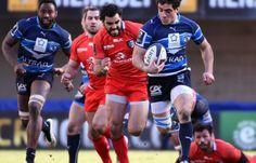 Le Montpelliérain Lucas Dupont, auteur d'un doublé en Coupe d'Europe de rugby, le 25 janvier 2015 contre Toulouse.ÉLIMINÉ (27-26) Dommage  (le 25.01.2015)