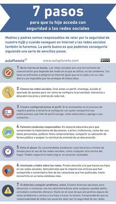 7 claves para un uso responsabe de las redes sociales #infografia