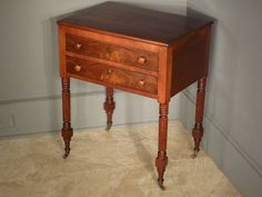 Mahogany 2 Drawer Stand, End Table
