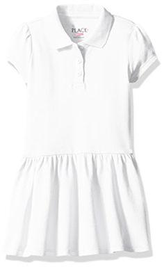Girls navy polo style dress