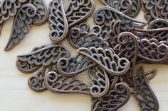 Wing Charms by TwinBeadsLLC on Etsy