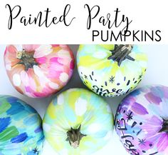 alisaburke: painted party pumpkins from make wells. several others on alisa burke's site...