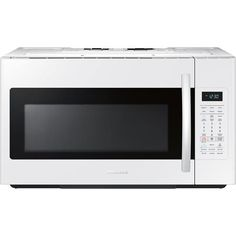 Samsung 1 8 Cu Ft Over The Range Microwave With Sensor Cooking White