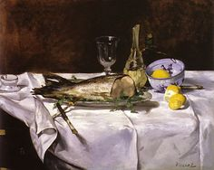 Manet, Still Life with Salmon
