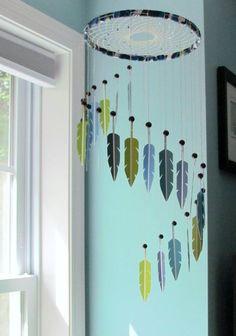 Ideas Diy Dream Catcher Mobile Awesome For 2019 - DIY - Decoration Baby Nursery Neutral, Baby Nursery Themes, Baby Decor, Nursery Ideas, Diy Tumblr, Native American Nursery, Native American Decor, Los Dreamcatchers, Dream Catcher Mobile