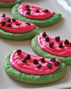 Watermelon Sugar Cookies- cute for a watermelon party