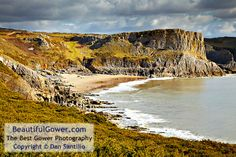 """Fall Bay by Dan Santillo. """"Fall Bay is a little visited bay around the corner from Worms Head. This particular shot of it was taken from near Tears Point."""""""