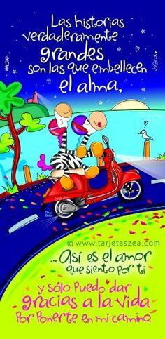 Cebras Ele y Gala paseando en motocicleta © ZEA www.tarjetaszea.com