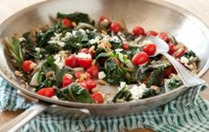 Swiss Chard with Tomatoes, Feta and Pine Nuts