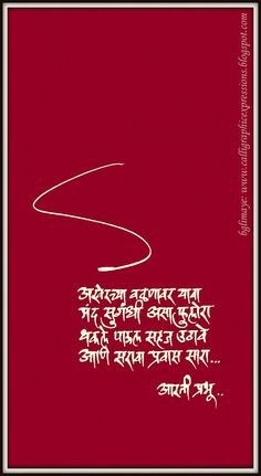 Calligraphic Expressions.... .... by B G Limaye: November 2012