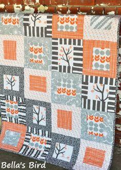 Couvertures bébé, KIT COUVERTURE BEBE BELLA BIRDS Windham fabrics est une création orginale de Revedepatch- sur DaWanda