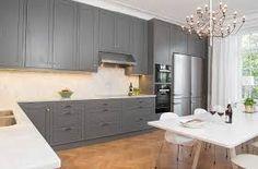 Bildresultat för grått kök mässingsknoppar