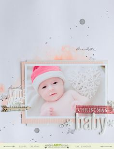 Watercolor background. Page Christmas Baby - Jees Studio