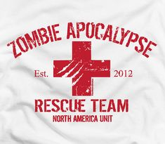Zombie Apocalypse 2012 Rescue Team funny cool by TheShirtDudes.Me and my team need these shirts ! Zombie Apocolypse, Zombie Attack, Walking Dead Zombies, Zombie Movies, Zombie Party, Apocalypse Survival, Team T Shirts, Tee Shirts, Funny Tees