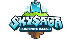 Skysaga is Minecraft Meets Bastion, And it Looks Great Typography Logo, Graphic Design Typography, Video Game Logos, Video Games, Mobile Logo, Game Logo Design, Game Title, Cartoon Logo, App Logo