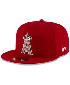info for 89ac3 1a05f New Era Los Angeles Angels Metal   Thread 59FIFTY-fitted Cap - Red 7