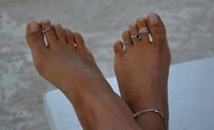 Nickel plated toe rings are hot.