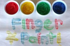 edible finger paint and edible play dough