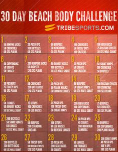 30 Day Beach Body Challenge