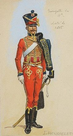 French 4th Hussars, Trumpeter 1805 by L.Rousselot
