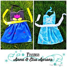 Free Time Frolics: Frozen Inspired Elsa & Anna Aprons