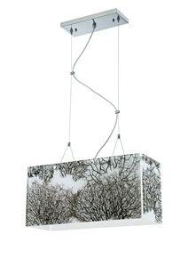 CanadaLightingExperts   Ecoframe 4-light pendant in Satin Nickel finish