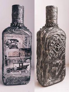Lace Mason Jars, Vodka Bottle, Bottles, Drinks, Bottle Art, Decorated Bottles, Decorating Bottles, Creative Gifts, Creativity