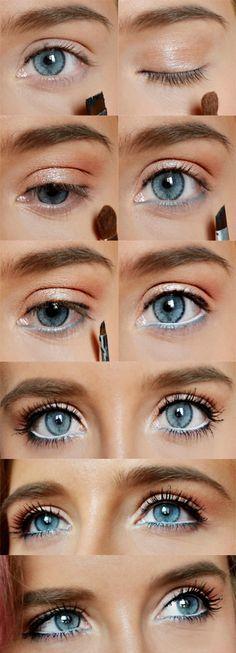 How to Do Natural Spring Makeup   Easy DIY Look by Makeup Tutorials at http://www.makeuptutorials.com/makeup-tutorial-12-makeup-for-blue-eyes .
