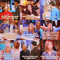 Ross's hair jokes