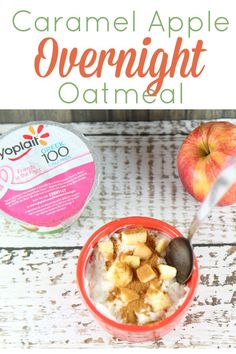 One of my favorite breakfast and snacks is overnight oatmeal. It is delicious and easy to make, usually only taking 5 minutes of prep time the night before. Since it is fall, I thought why not try a fall apples inspired version of my favorite. I'm so glad I did as it hits the spot just perfectly!  AD  #SnackandSmile