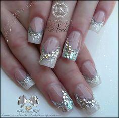 Gold glitter tips