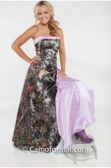 3033 All Camo Heather A Line Scalloped Front